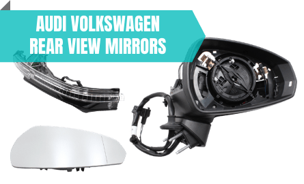 Audi VW Rear View Mirrors